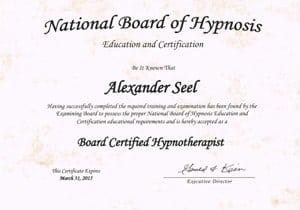 National Board of Hypnosis - Alexander Seel