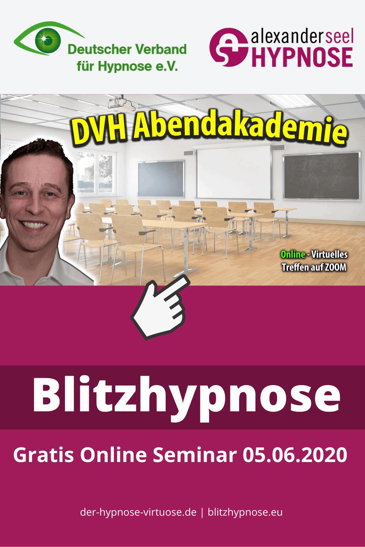 Blitzhypnose Gratis Online Seminar mit Alexander Seel