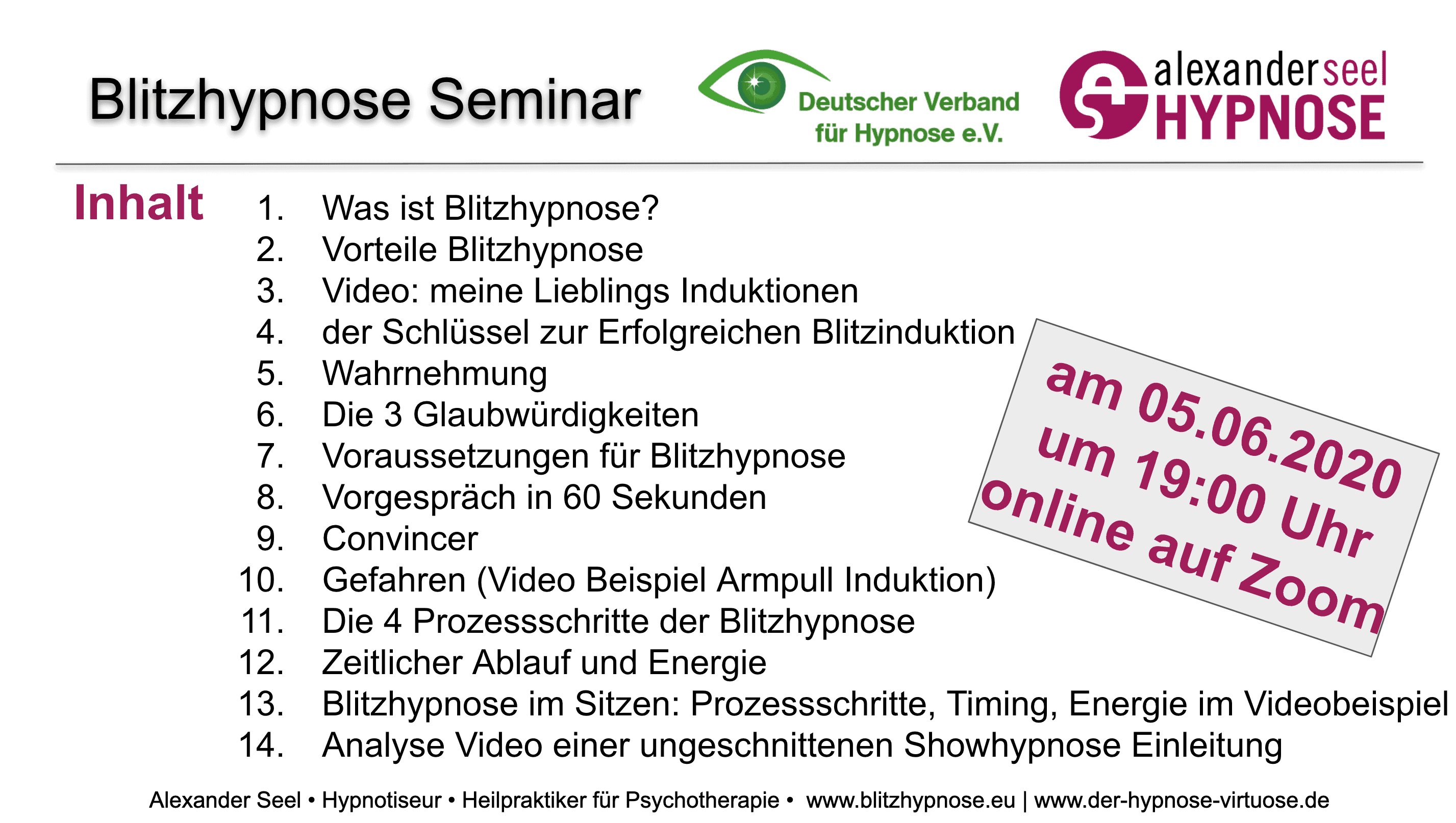 Blitzhypnose Seminar 05.06.2020 PDF-download