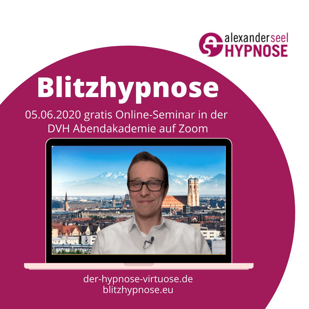 Blitzhypnose Online Seminar kostenlos mit Alexander Seel