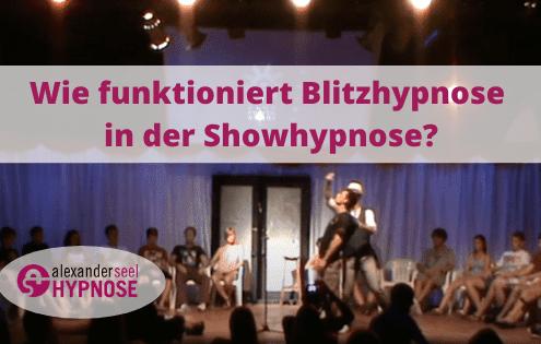 Blitzhypnose in der Showhypnose